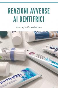razioni avverse ai dentifrici