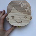 scatolina di legno per denti da latte