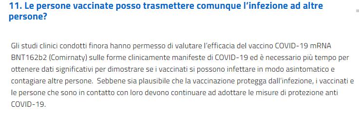 trasmissine covid e vaccinazione